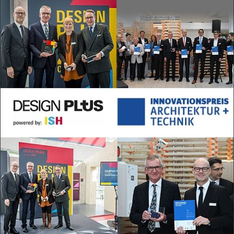 Two awards for CeraFloor Select: the Innovation Award for Architecture and Technology and the Design Plus