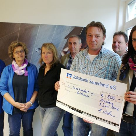 500 euros collected for children's hospice