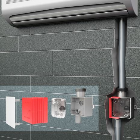 Bathroom freshness - new condensate trap works with and without water trap